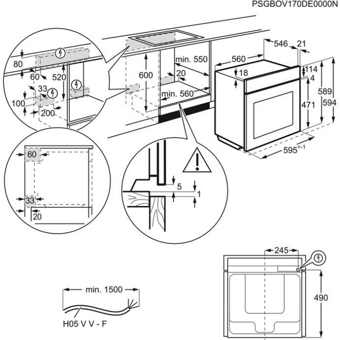 AEG - BEK455020M Solo oven