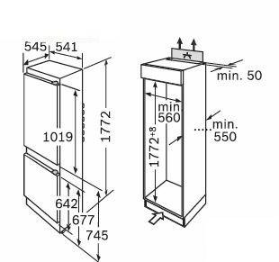 Bosch - KIV34X20 Inbouw koelkasten vanaf 178 cm