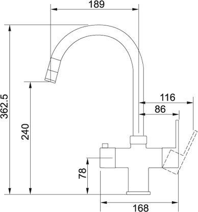 Franke - 1190281578 Kokendwaterkranen