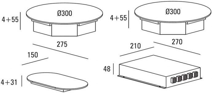 ABK - ICI0203 Domino inductie kookplaat