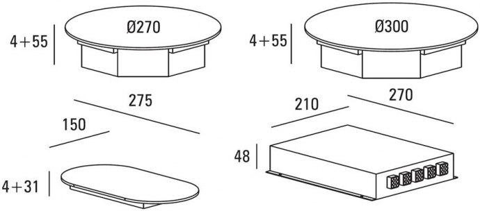 ABK - ICI0202 Domino inductie kookplaat