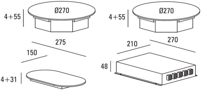 ABK - ICI0201 Domino inductie kookplaat