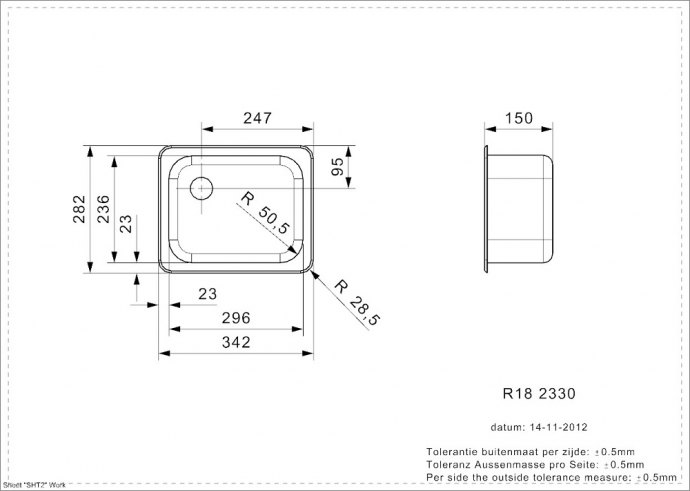 Reginox - R00380 Spoelbakken