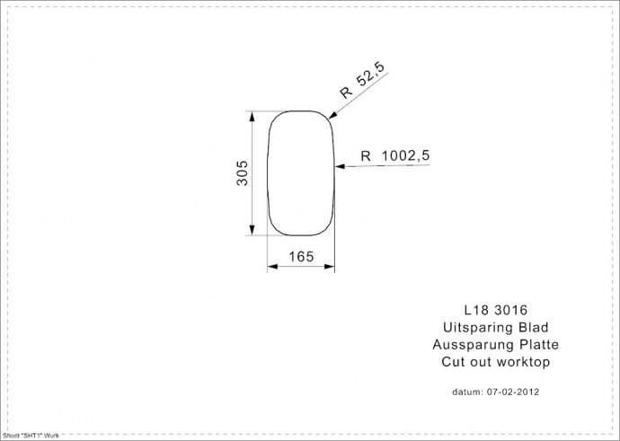 Reginox - R02056 Spoelbakken