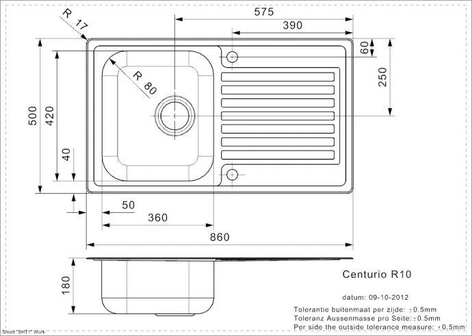 Reginox - R23105 Spoelbakken