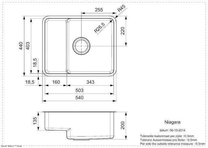 Reginox - R25772 Spoelbakken