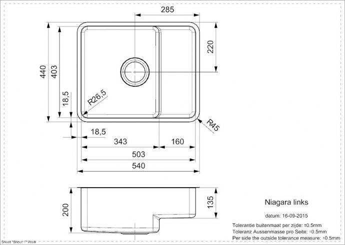 Reginox - R25789 Spoelbakken