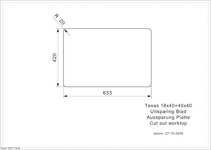 Reginox - R28070 Spoelbakken
