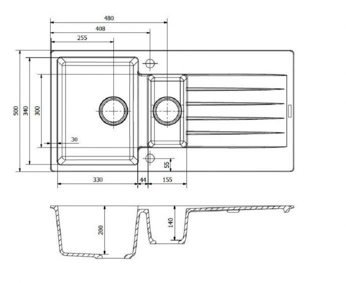 Reginox - R31308 Spoelbakken