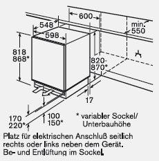 Bosch - GUD15A55 Inbouw vriezers