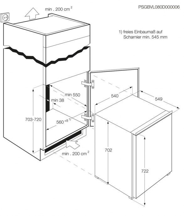AEG - ABB67211AS Inbouw vriezers