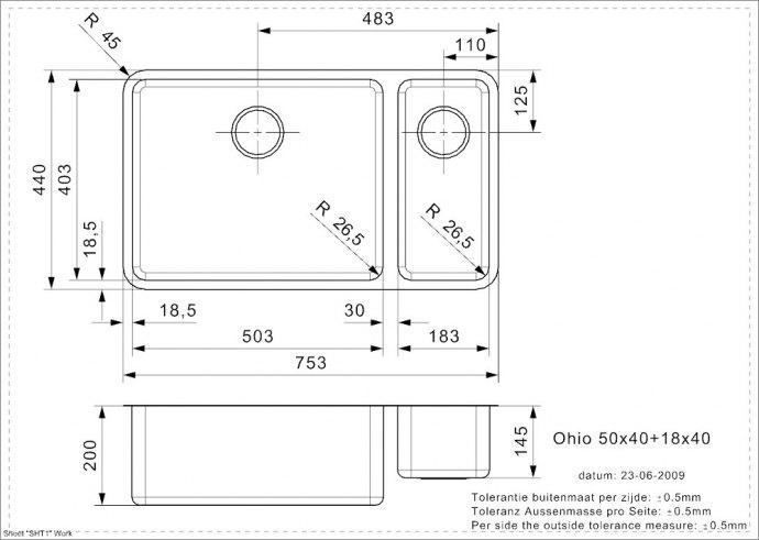 Reginox - R15711 Spoelbakken