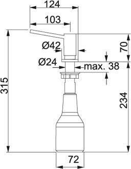 Franke - 1190081210 Zeepdispensers