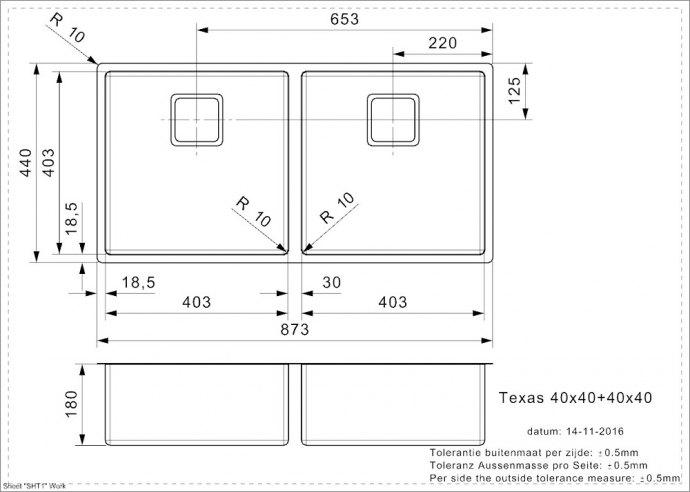Reginox - R28087 Spoelbakken
