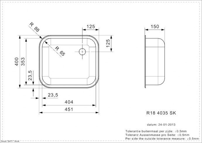 Reginox - R00359 Spoelbakken