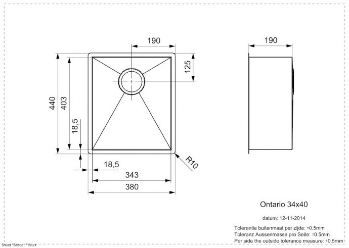 Reginox - R25734 Spoelbakken