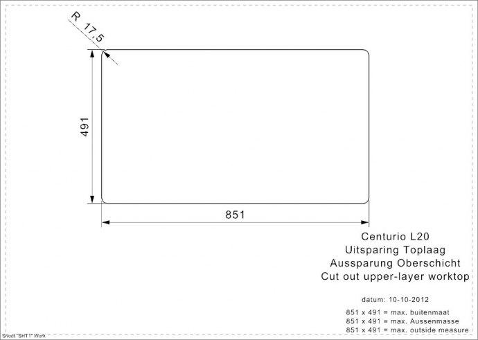 Reginox - R21453 Spoelbakken