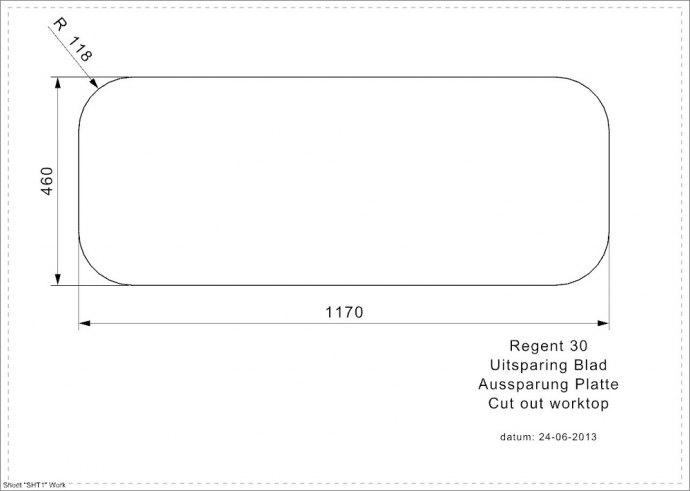 Reginox - R00298 Spoelbakken