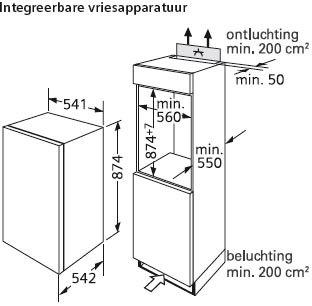 Siemens - GI18DA20 Inbouw vriezers