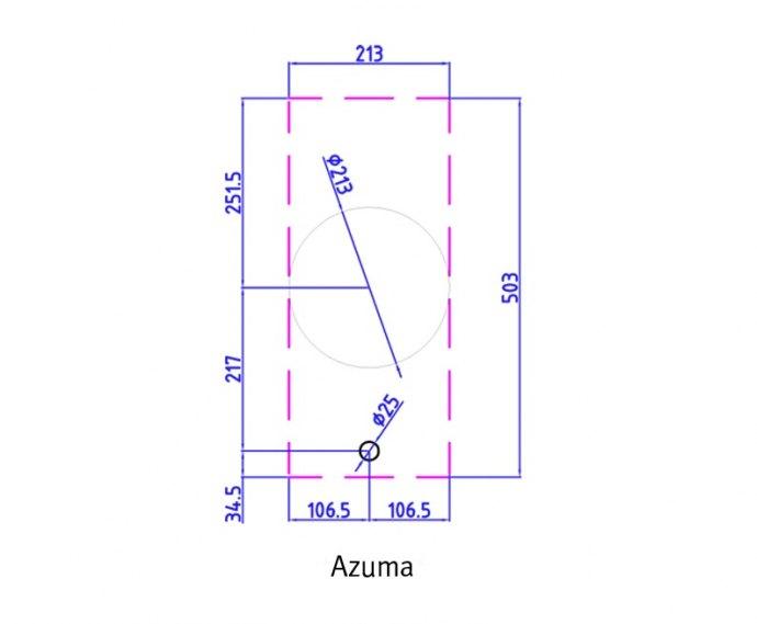 PITTcooking - AZUMABLACK Domino gaskookplaat