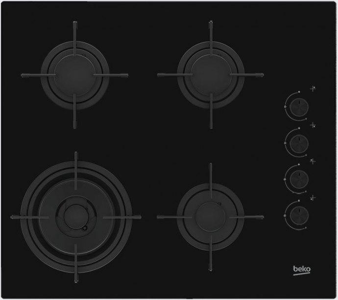 Beko HILW64120SNL Gas op glas kookplaat