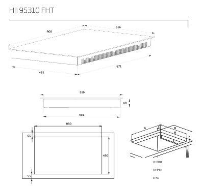 Beko - HII95310FHT Inductie kookplaat