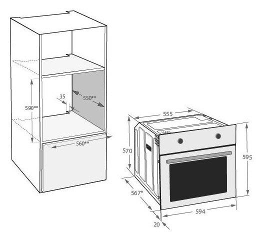 Beko - BIE22400XP Solo oven