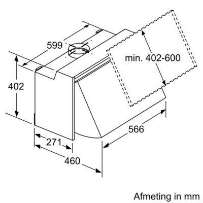 Siemens - LE66MAC00 Geintegreerde afzuigkap