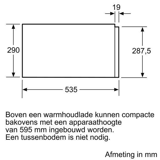 Siemens - BI630DNS1 Serviesverwarmers