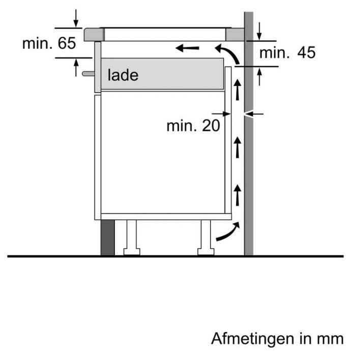 Siemens - EH845BFB1E Inductie kookplaat
