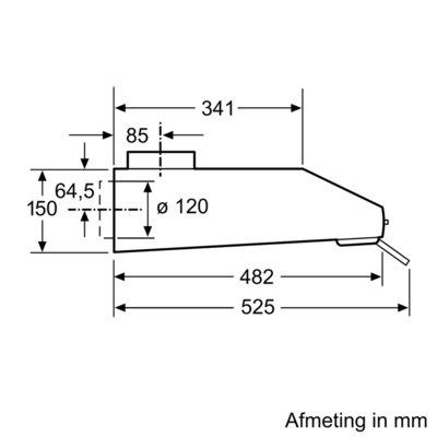 Siemens - LU63LCC20 Onderbouw afzuigkap