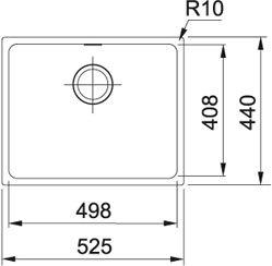 Franke - SID11050PW Spoelbakken