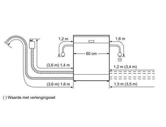 Bosch - SMV90E30NL Volledig geintegreerde vaatwasser
