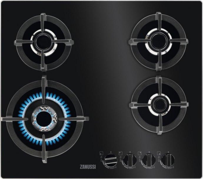 Zanussi ZGO68420BA Gas op glas kookplaat
