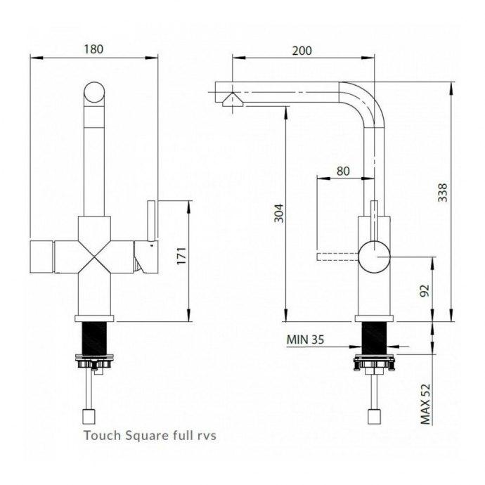 Floww - 1200563364 Gekoeld water kraan