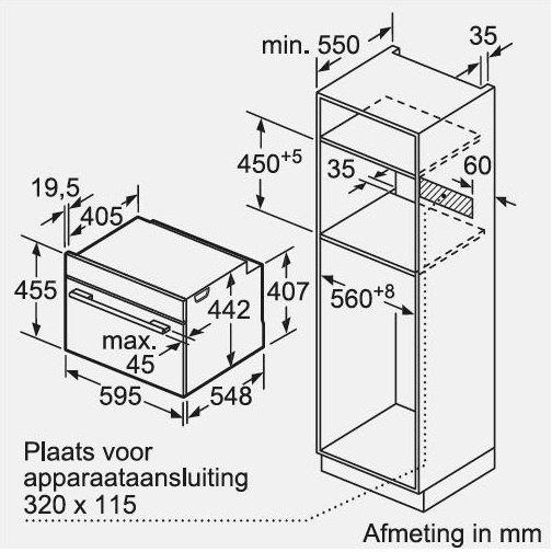Bosch - CSG856NS1 Stoomoven