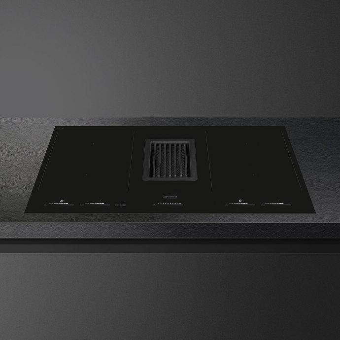 Smeg - HOBD682D Kookplaat met afzuiging