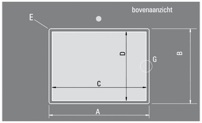ABK - BIN3434VI Spoelbakken