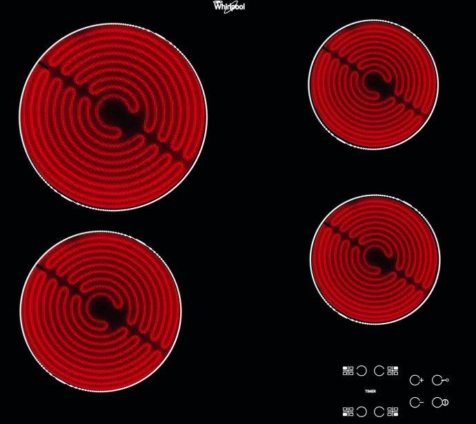 Whirlpool AKT8090NE Keramische kookplaat