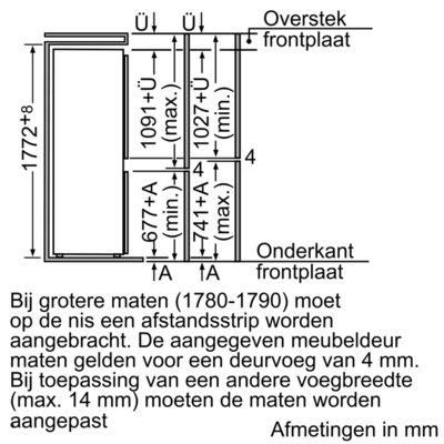 Siemens - KI34VX21 Koelkasten vanaf 178 cm