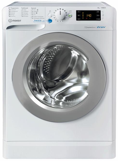 Indesit BWENL81484XWSN Vrijstaande wasmachines