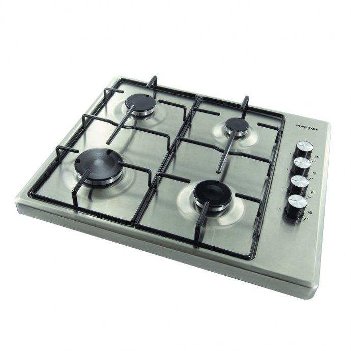 Inventum VKG6008RVS Vrijstaande kookplaat