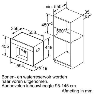 Bosch - CTL636ES6 Inbouw koffieautomaat