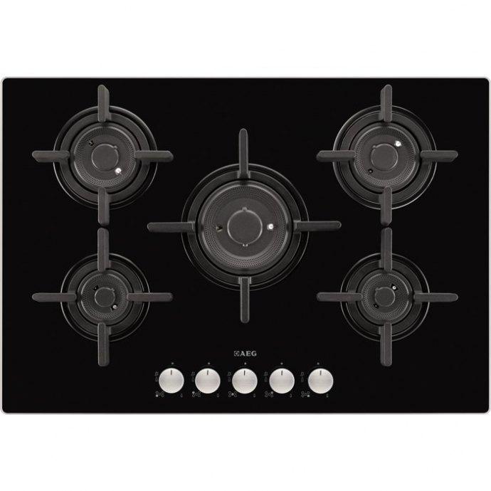 AEG HG795840NB Gas op glas kookplaat