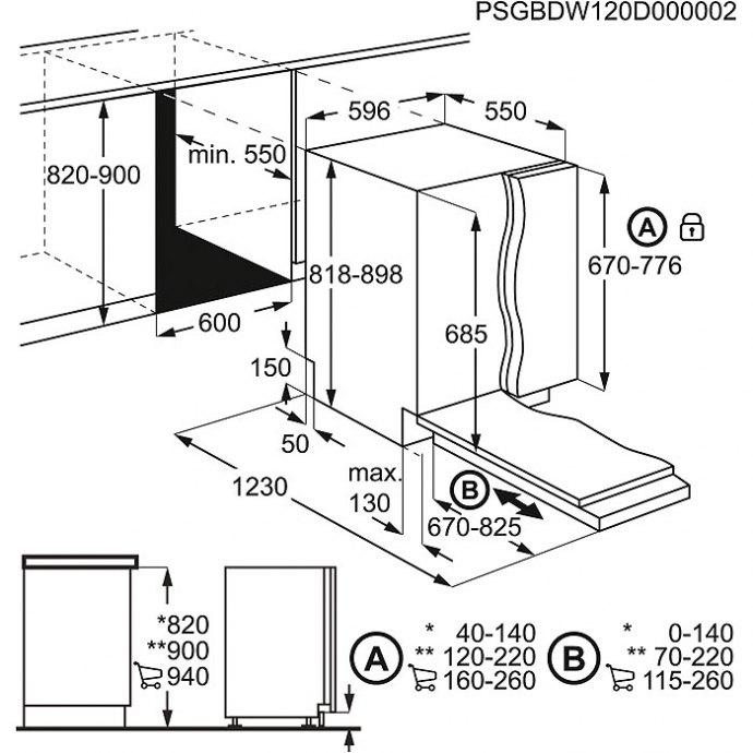 AEG - FSE83600P Volledig geintegreerde vaatwasser