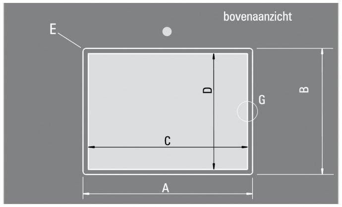 ABK - BIN20VI Spoelbakken